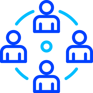 icon with four people in a circle