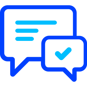 icon of two speech bubbles connected