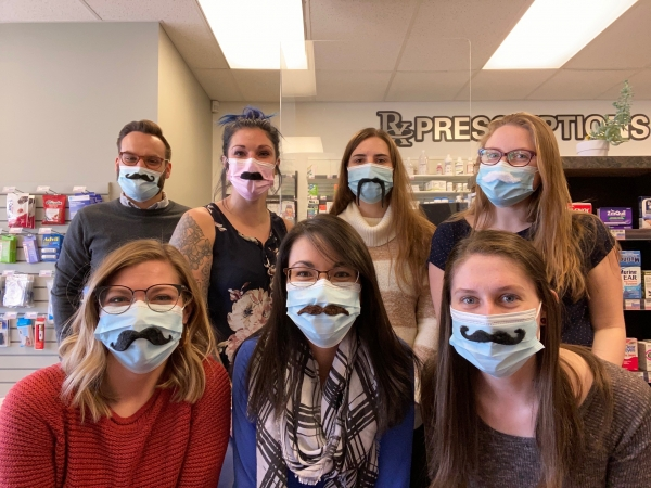 CareRx team wearing moustaches